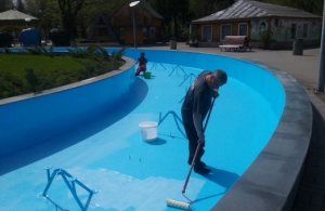 Vopsea specială pentru piscină