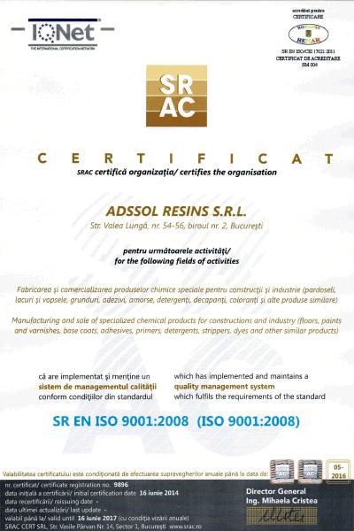 SRAC ISO 9001:2008